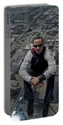 Eyes Down From The 103rd Floor Just Sitting Around Portable Battery Charger