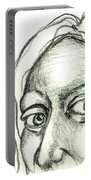Eyes - The Sketchbook Series Portable Battery Charger by Michelle Calkins
