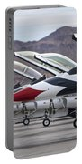 F-16c Thunderbirds On The Ramp Portable Battery Charger by Terry Moore