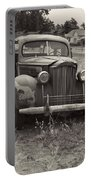 Fabulous Vintage Car Black And White Portable Battery Charger