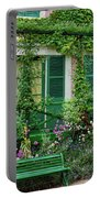 Facade Of Claude Monets House, Giverny Portable Battery Charger