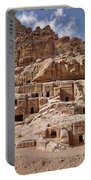 facade street in Nabataean ancient town Petra Portable Battery Charger