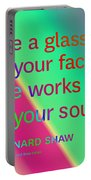 Face And Soul Definitions Portable Battery Charger