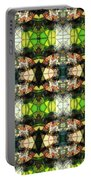 Face In The Stained Glass Tiled Portable Battery Charger