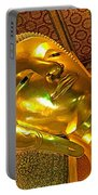 Face Of Reclining Buddha In Wat Po In Bangkok-thailand Portable Battery Charger