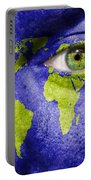 Face The World Map Portable Battery Charger