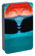 Face To Face - Abstract Art By Sharon Cummings Portable Battery Charger
