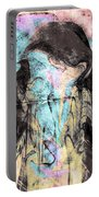Faceless Girl With Her Crow Portable Battery Charger