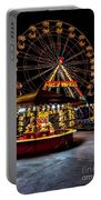 Fairground At Night Portable Battery Charger