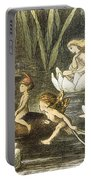 Fairies And Water Lilies Circa 1870 Portable Battery Charger