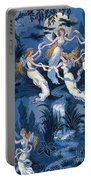 Fairies In The Moonlight French Textile Portable Battery Charger