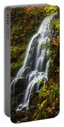 Fairy Falls Autumn In Columbia River Gorge Oregon Usa Portable Battery Charger