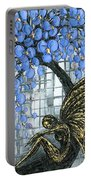 Fairy Under Blue Blossom Portable Battery Charger