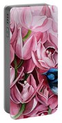 Fairy Wrens And Orchids Portable Battery Charger