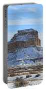 Fajada Butte In Snow Portable Battery Charger
