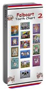 Falboart Tooth Chart Number 2 Portable Battery Charger