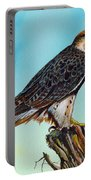 Falcon On Stump Portable Battery Charger