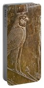 Falcon Symbol For Horus In A Crypt In Temple Of Hathor In Dendera-egypt Portable Battery Charger