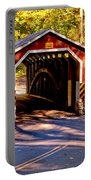 Fall At Kurtzs Mill Covered Bridge Portable Battery Charger