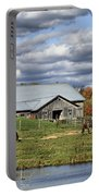 Fall At The Horse Farm Portable Battery Charger