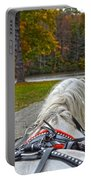 Fall Carriage Ride Portable Battery Charger