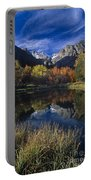 Fall Color And Reflection Below Middle Palisades Glacier California Portable Battery Charger