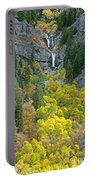 Fall Color And Waterfalls In Provo Canyon Utah Portable Battery Charger