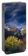Fall Color Below Middle Palisades Glacier Eastern Sierras California Portable Battery Charger