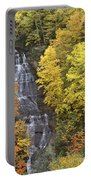 Fall Color Surrounds Chapel Falls On The Michigan Upper Peninsula Portable Battery Charger