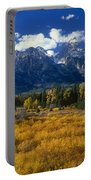 Fall Color Tetons Blacktail Ponds Grand Tetons Nationa Portable Battery Charger