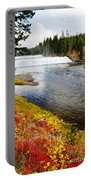 Fall Colors And Waterfalls Portable Battery Charger