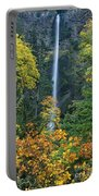 Fall Colors Frame Multnomah Falls Columbia River Gorge Oregon Portable Battery Charger