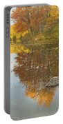 Fall Colors On Taylor Pond Mount Vernon Maine Portable Battery Charger by Keith Webber Jr