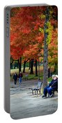 Fall Couples Portable Battery Charger