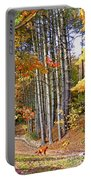 Fall Driveway And Coco The Dog Portable Battery Charger