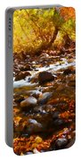 Fall Flow At Mcgee Creek Portable Battery Charger