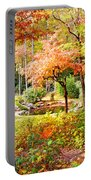 Fall Folage And Pond Portable Battery Charger