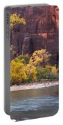 Fall Foliage Along The Virgin River Portable Battery Charger