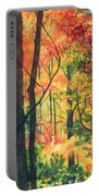 Fall Foliage Portable Battery Charger by Barbara Jewell