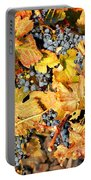 Fall Grapes Portable Battery Charger