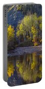 Autumn Reflections In Fort Mcmurray Portable Battery Charger