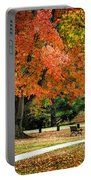 Fall In The Park Portable Battery Charger by Christina Rollo