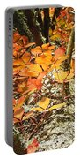 Fall Ivy On Pine Tree Portable Battery Charger