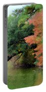 Fall Landscape Around The Lake 5 Portable Battery Charger