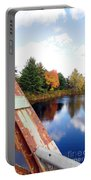 Fall Landscape Old Bridge Maine Portable Battery Charger