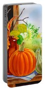 Fall Leaves Pumpkin Gourd Portable Battery Charger