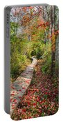 Fall Morning Portable Battery Charger by Bill Wakeley