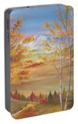 Fall Mountain Path Portable Battery Charger