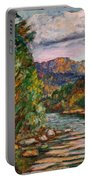 Fall New River Scene Portable Battery Charger