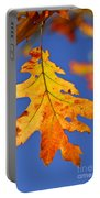 Fall Oak Leaf Portable Battery Charger